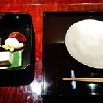 54767492 - 『茶菓色々』(1600円)と銀色の取皿~♪(^o^)丿