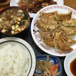 廣苑 - 餃子 小定食(10個)@850円と しょうが焼@350円