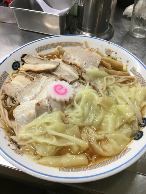 中華そば みたか - チャーシューワンタン麺大盛り800円