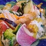 54768716 - 色々野菜のアンチョビ風味