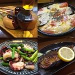 沢乃屋 - ◆セルフのおでん                             ◆タコとニンニクの芽炒め                             ◆茄子とトマトのチーズ焼き                             ◆焼き鯖
