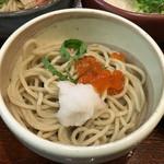 蕎旬 - 「味わい三種のそば御膳」1296円 イクラと大根おろし