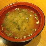 三代目網元 魚鮮水産 - 料理写真:しじみの味噌汁