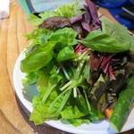 やさい村大地 本店 - サムギョプサル用の包み野菜