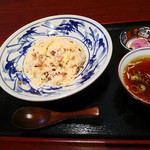 54774197 - 半チャーハン(スープ付)580円
