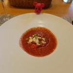 54777880 - トマトとスイカの冷製スープ