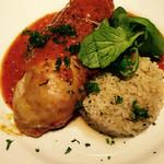 54779106 - 鶏肉のトマト煮込み バターライス添え