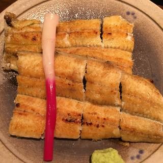 かんたろう 蜆塚店 - 白焼き 最初パリッとした歯応えの後にふわりした身から香ばしい香りと美味しさが追いかけてくる。