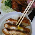 お食事処 甘太郎 - ジャンボチキンカツ800円