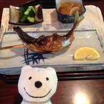 毘沙門茶屋 - イロリで焼いた焼魚の定食 Smoked and Grilled Fish Special at Bishamon-chaya, Miura!♪☆(*^o^*)