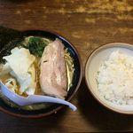 54781499 - 豚骨醤油ラーメン並756円&御飯216円