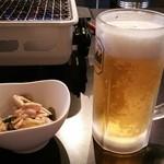 まるき家 - 生ビールとお通し