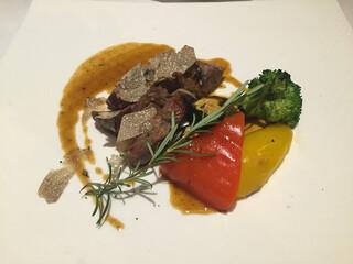 オステリアガウダンテ 神戸ハーバーランド店 - 牛フィレ肉のタリアータ サマートリュフの香り