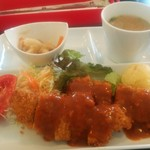 洋食屋 ヒラタ - 料理写真:ビーフカツレツランチ