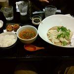 54791392 - ごま香る坦々つけ麺定食 1220円+税