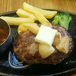 ビッグボーイ - 料理写真:にんにくハンバーグ+ビッグボーイバイキング付き1,090円(税別)