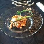 Risutorantetenkuu - パスタの代わりの魚と豆の料理