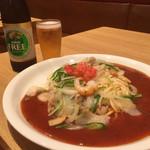 スパゲティハウス チャオ - アメリカンS(ソース多め無料で)710円税込とノンアルコールビール290円