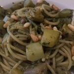 54796184 - 牧島さんの夏野菜のジェノベーゼスパゲッティ