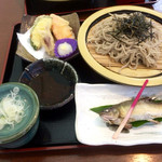 Kikyou - 野菜天付鮎そば1360円