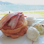 コーヒーハウス ショコラ - ブランチ パンケーキ 950円