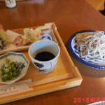 杜の蕎麦や - 料理写真:天麩羅 もり蕎麦 \1100(税込)