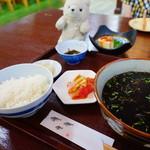 国頭港食堂 - イカ墨汁定食