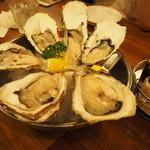 oisuta-ba-jakkupotto - 岩牡蠣690円/1個  中の川480円/1個