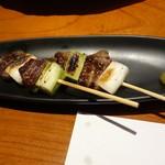 和菜蔵 椿屋 - 飛騨牛串焼き2本972円