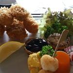 花膳 - 牡蠣フライ御膳アップ