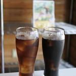 おさんぽ - アイスティとアイスコーヒー