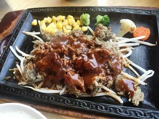 ビフテキ屋 まるり - 160802デミグラスジ定食853円肉たっぷり