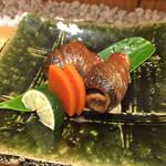 54814475 - 新さんまの肝醤油焼き