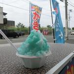 氷屋ツルミセイヒョウ - 小カップにエメラルドパイン150円