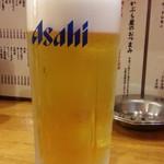 かぶら屋 - 生ビールはスーパードライ380円