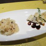 創作和食・銀座 KUSHIMA - 穴子の白焼き 有馬山椒リゾット添え