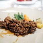 レ セゾン - 料理写真:乳飲み仔羊のタジン 熟成青森黒にんにく すだちと昆布