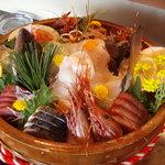 味ごよみ宮田 - お刺身盛り合わせ ある還暦祝いのコースの中の一品でした。