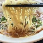 上海ドールバイワキヤ - 麺も細麺で食べやすいです。