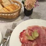 54825905 - 前菜イタリアハムの盛り合わせ