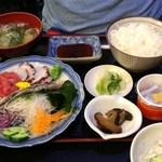 日本料理 はら田 - 刺身3品盛りの定食