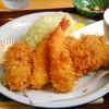 とんかつ たまがわ - 料理写真:盛り合わせ定食(ヒレ・エビ・ホタテ)1,700円