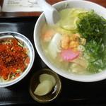 みさき食堂 - 浜ラーメン ミニいくら丼セット 1700円