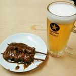 金の字 - 金の字 本店@清水 もつカレーと生ビール