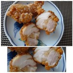 鶏三和 - ◆お醤油等で下味がしっかりついているので、美味しいそうですよ。 肉質も柔らかいとか。