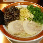 佐賀ラーメン 美登里 - 味自慢ネギラーメン+キクラゲ