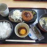 金成パーキングエリア(下り線)スナックコーナー - 朝定食B ¥500-