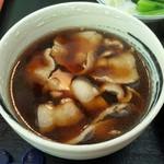 54837204 - 201608村山うどん 肉汁 並(3玉)\720 肉汁