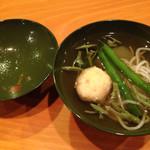 54842195 - お吸い物 ハモ素麺