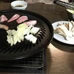 萬里 - 料理写真:ジンギスカン(写真の肉はとんトロ)